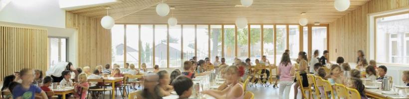 Restaurant scolaire et salles d'études à Saint Romain en Gal